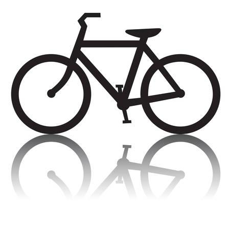 bike vector: Bicicleta con Reflexi�n