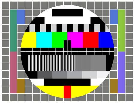 Off (끄기)로 설정하는 경우 방송 테스트 TV 화면 일러스트