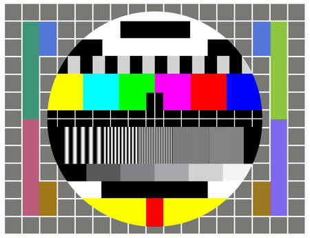 Test TV screen when broadcast if off Stock Vector - 4700612