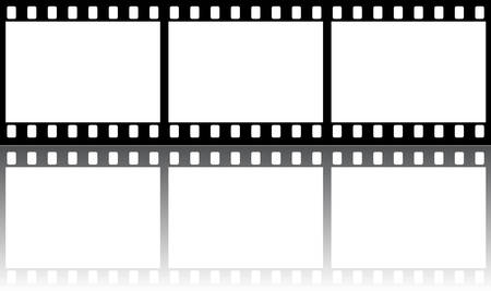 film strip: Seamless Film Strip with glossy reflection