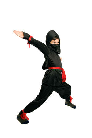 Young Ninja on pure white background Stok Fotoğraf - 5791501