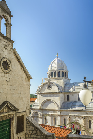 The Cathedral of St James  in Sibenik, Croatia Stock Photo