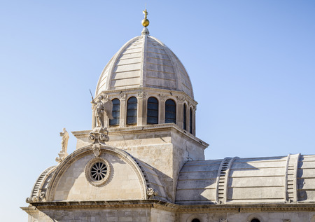 The Cathedral of St James  in Sibenik, Croatia ,roof view
