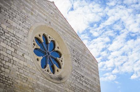 Rose window  church Saint Marie in the city of Zadar,  Croatia