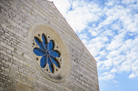 Rose window  church Saint Marie in the city of Zadar,  Croatia