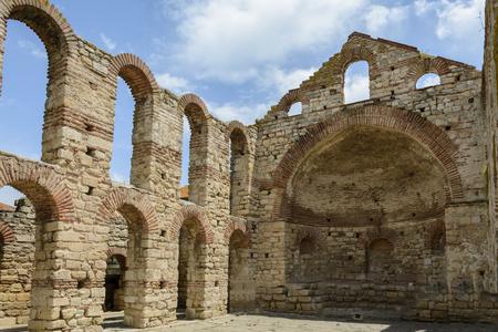 left side Arch of the Church saint sophia in Nessebar, Bulgaria