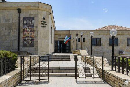 NESSEBAR, BULGARIA , MAI 24, 2018: Archaeological Museum entrance in the city of nessebar, Bulgaria.