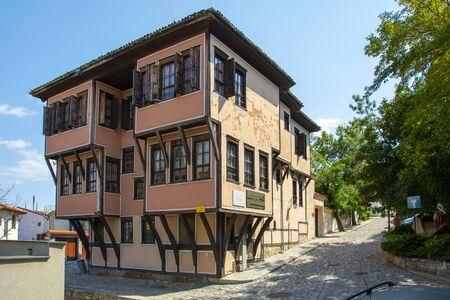 PLOVDIV, BULGARIA - AUGUST 20, 2018: Lamartine House in the Unesco World Heritage site Old Town district. Plovdiv will became European Capital of Culture 2019.