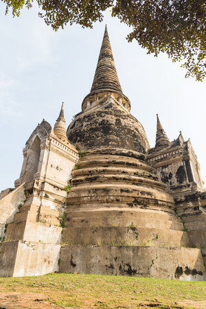 Wat Phra Si Sanphet temple in Ayutthaya
