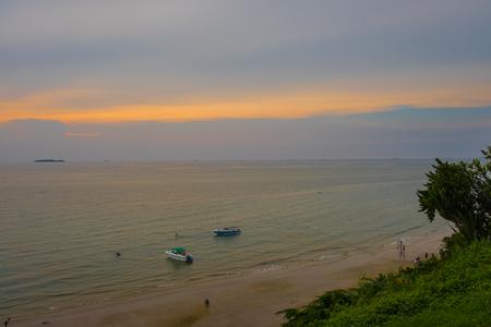 The beach,Summer in Patthaya Thailand