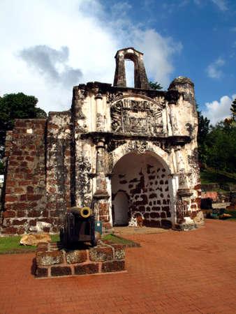 Porta de Santiago Melaka, Malaysia.