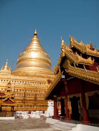 incidental people: Shwezigon Paya in Nyaung U, Bagan, Myanmar