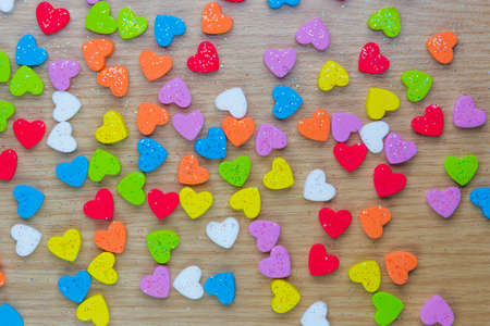 scattered: Scattered color hearts