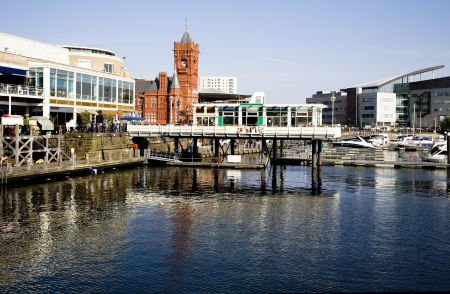 A view of Cardiff bay,the Cardiff docklands area Stock Photo