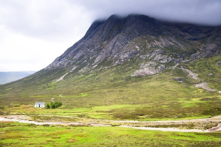 Glencoe in scotland after a rain storm