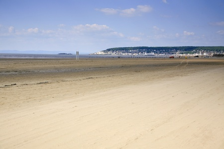 birnbeck: Beach at Weston Super Mare in Somerset UK
