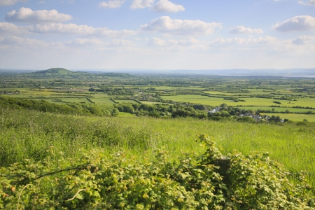 View across to Brent Knoll, Somerset Stock Photo - 20915275