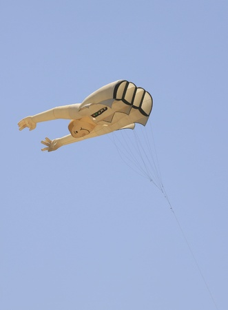 steep holm: Body and arm shaped kite