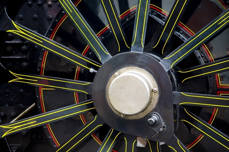 steam locomotives: Close up of a steam locomotives wheel