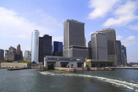 Manhattan de Nueva York vista desde el ferry