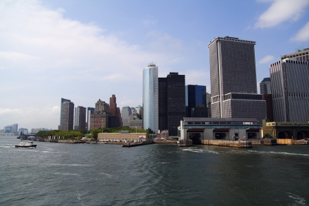Manhattan New York view from the ferry