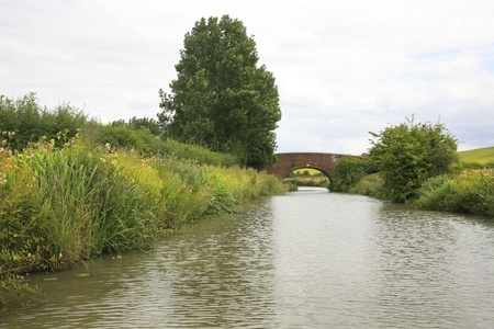 View of the Grand Union canal in Leicestershire Stock Photo