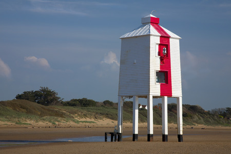burnham: Wooden lighthouse Stock Photo