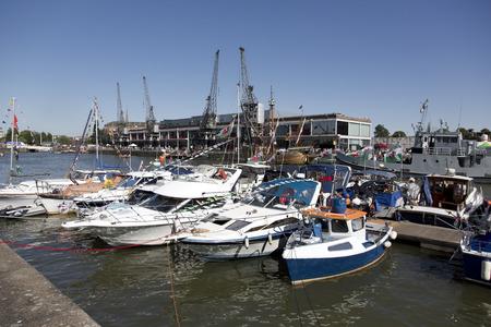 riverside county: BRISTOL, ENGLAND - JULY 19: yachts at the Bristol harbourside festival on July 19,2015 at Bristol, UK Editorial