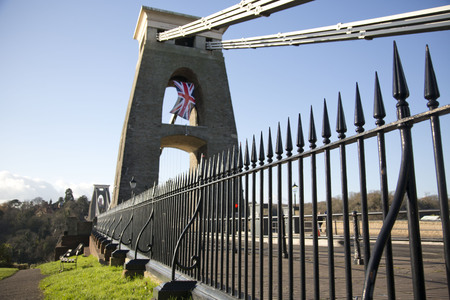 somerset: Suspension bridge over the river Avon in Clifton, Bristol, UK
