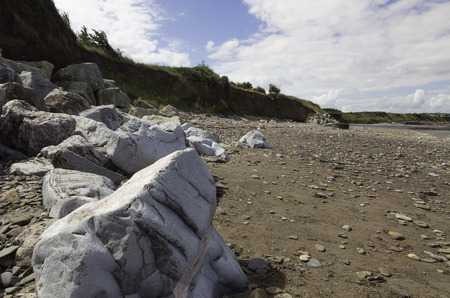 british weather: Doniford Bay consists of the Lower Jurassic Lias, and Triassic beds.The Jurassic lias at Doniford are the youngest of the lias at Somerset and marks the uppermost beds of the Lower lias. Horizons of the Doniford Shales can be located and at low tide, nea