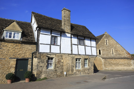Old houses in Lacock village in Wiltshire Stock Photo