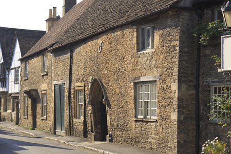 Old houses in the pretty village of Lacock in Wiltshire, UK