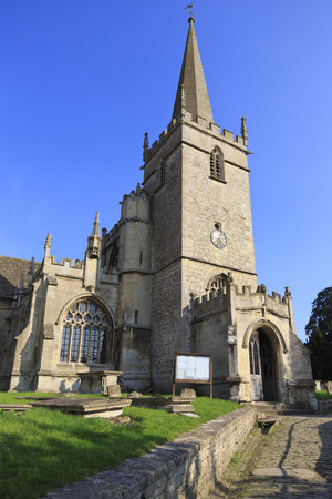 Old church in the village of lacock in Wiltshire,UK