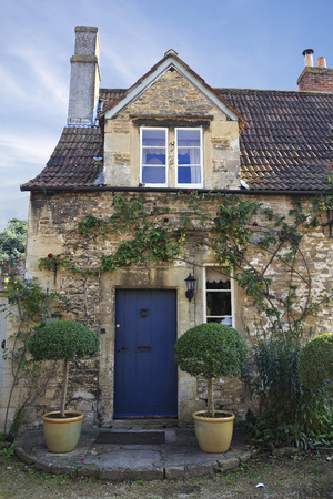 Old house in the pretty village of Lacock in Wiltshire, UK