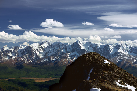 Mountains landscape of Altai glaciers