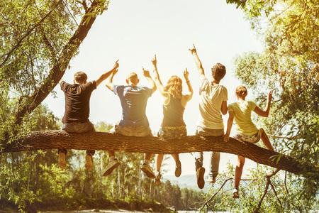 다섯 행복 친구 재미 개념