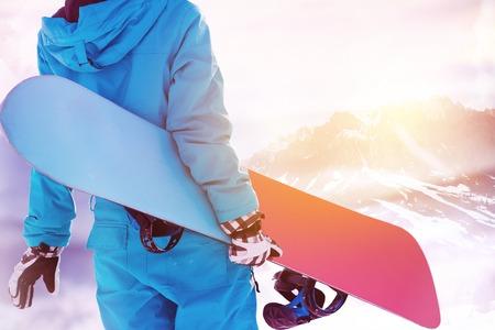 スノーボーダー大きな山エリアのスキー場