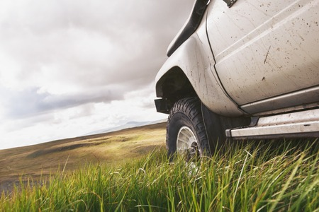 Closeup photo of offroad ready car 版權商用圖片