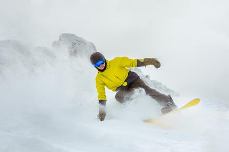 Backcountry freeride snowboarder snowboarding ski resort 写真素材