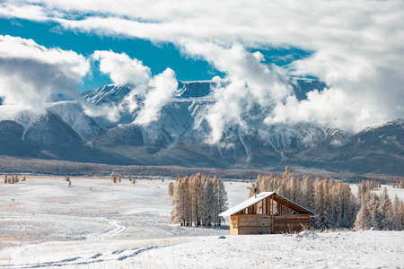 Small cozy house in mountains with good view at wintertime