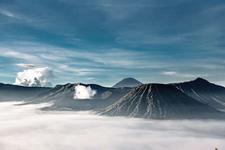 Bromo volcano from view point in morning