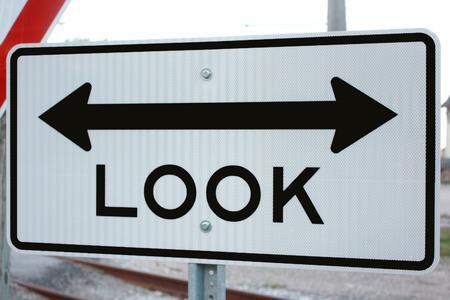 Look Both Ways Sign