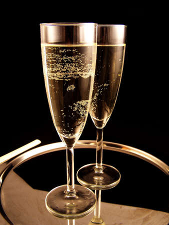 newyear night: champagne ready for new Year Party