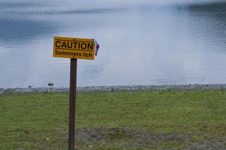 swimming at the lake Stock Photo