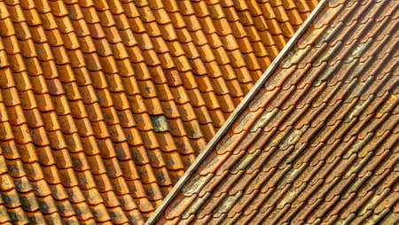 intersect: Roofs forming an interesting abstract pattern where they intersect