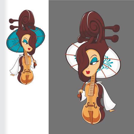 Princess Of Violin Banque d'images - 100864168