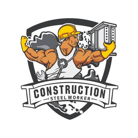 Construction steel worker Ilustrace