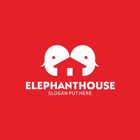 Elephant House proboscis Estate logo Illustration