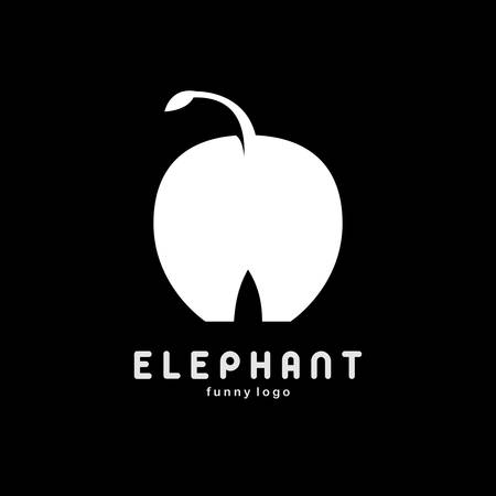 Apple elephant back big negative logo