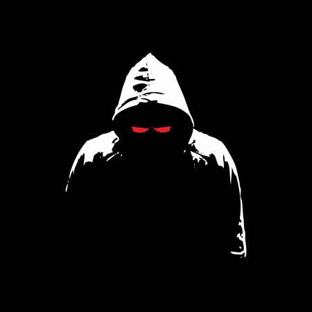 Graphique de vecteur de silhouette mystérieuse de pirate informatique
